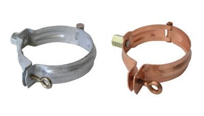 Fallrohrschelle mit Gewindestift in 2 Gr/ö/ßen 6 tlg mit 100 mm