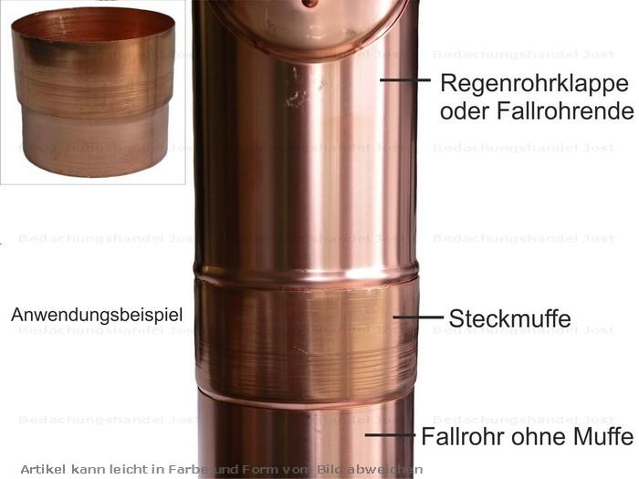 kupfer steckmuffe fallrohrmuffe fallrohr reduzierung d. Black Bedroom Furniture Sets. Home Design Ideas