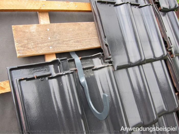 schneefanghaken rundholz gekr pft f r ziegel verzinkt schneefang rundholzhaken f r alle. Black Bedroom Furniture Sets. Home Design Ideas