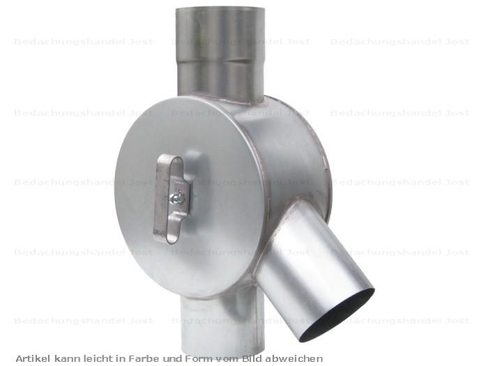 Dachrinne fallrohr  Zink Fallrohr Wasserverteiler Wasserweiche d=100mm Dachrinne und ...