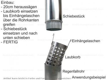 Dachrinne fallrohr zink  Laubfang Laubfangsieb für Dachrinne und Fallrohre Zink Kupfer 120 ...