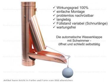 Dachrinne kupfer  Kupfer Fallrohr rund d=100mm 2m (1St a'2m) Dachrinne und Fallrohre ...