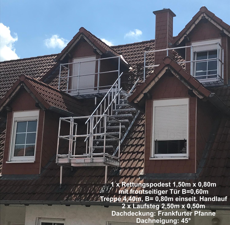 Rettungspodeste Und Laufstege Nach Din 14094 2 Nottreppen Und Dachtritte Dach Teufel