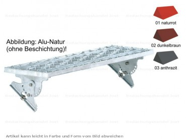 980.. MultiStep Alu Standrost 80 x 25 cm Farbe 1-3